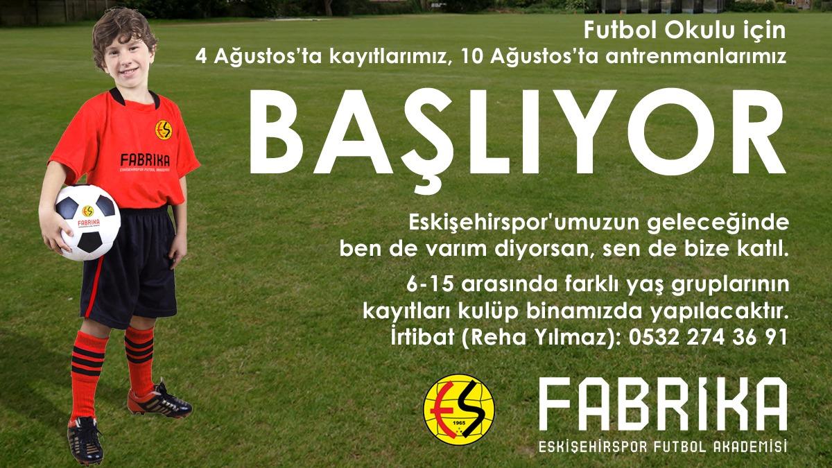 Eskişehirspor Fabrika Futbol Okulları Devam Ediyor