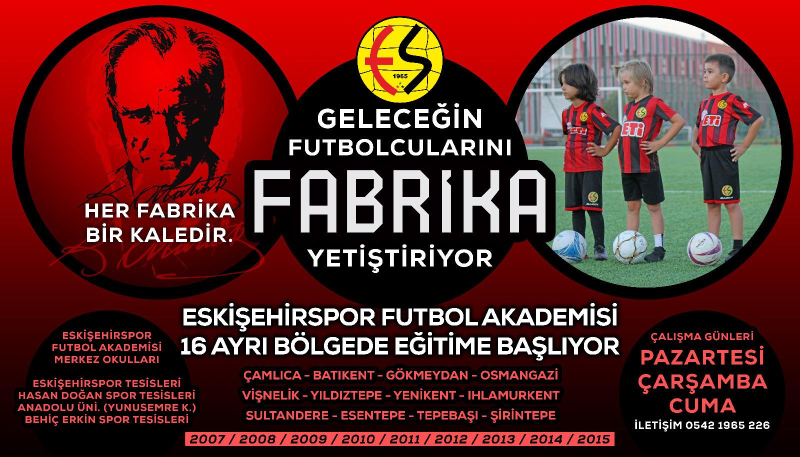 """Eskişehirspor'da """"Fabrika"""" dönemi devam ediyor"""